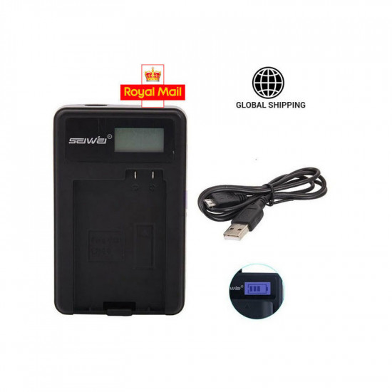 Mains Battery Charger LC-E10C for Canon Canon EOS 1100D Rebel T3 Kiss X50 DSLR