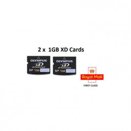 2 x 1GB XD MEMORY CARD TYPE M+ XD-PICTURE CARD OLYMPUS FUJI - FREE DELIVERY