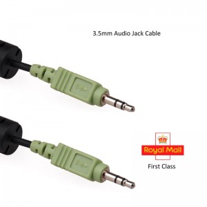 WHOLESALE JOB LOT 100 x 3.5mm Stereo Jack to Jack Audio Cable Lead 1.80m (0.60p)