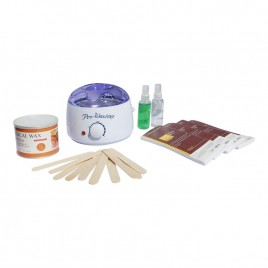Depilatory Wax Kit Heater Wax Pot, Strips Hair Removal Pre Post Treatment